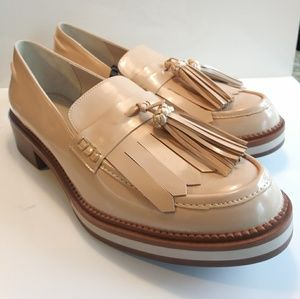 New! Zara Patent Leather Loafers